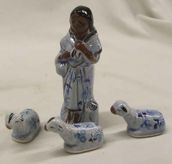 13 Pc. Tonala Mexican Ceramic Nativity Set - 4