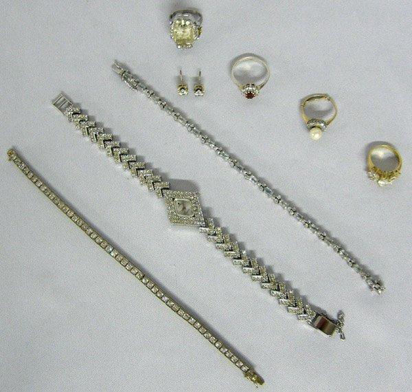 1023: Estate Vintage Rhinestone Jewelry