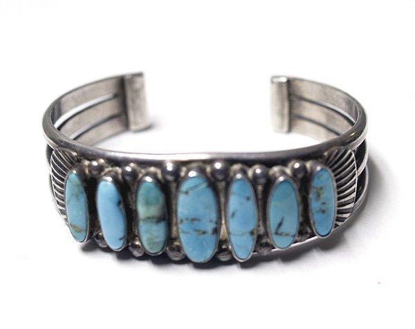 Vintage Navajo Silver & Turquoise Bracelet