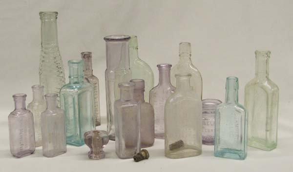 Antique Medicinal Bottle Collection Qty 15+