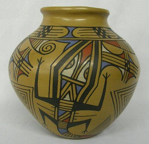 Mata Ortiz Lizard Pottery By Jesus Pena