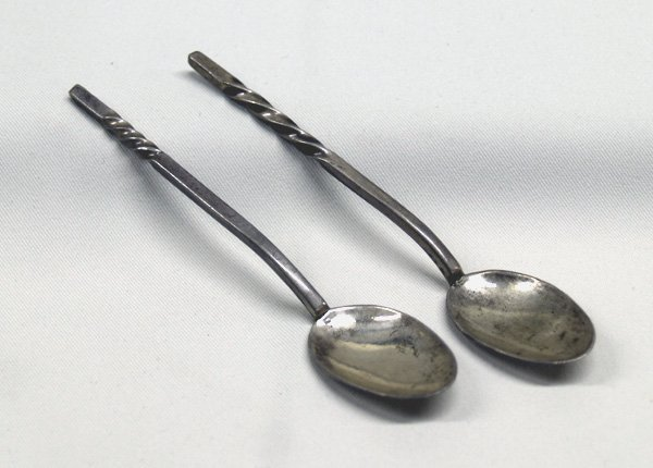 2 Navajo Silver Childs Spoons