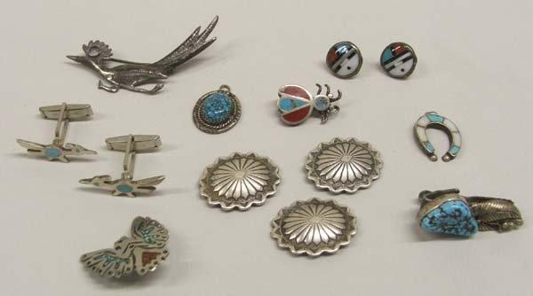 Zuni & Navajo Assortment Silver Turquoise Jewelry