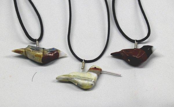 1007A: 3 Bird Fetish Necklaces by Matt Mitchell