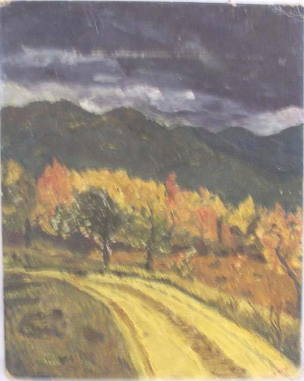 Original 1953 Oil Painting by Gertrude Hertz