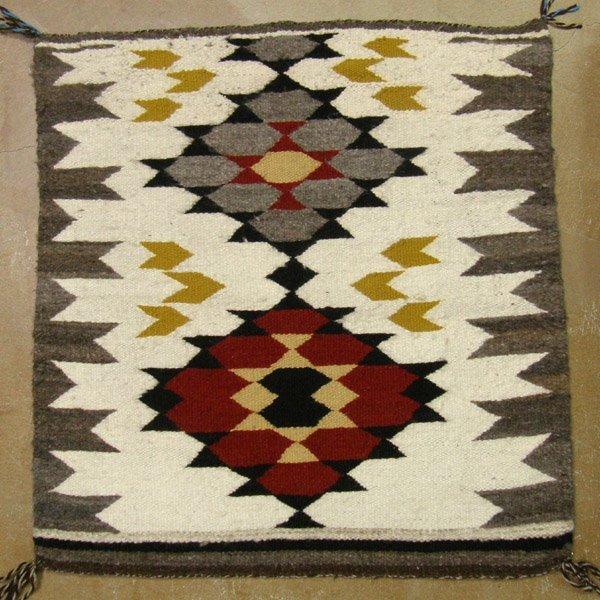 Navajo 1960's Hand Spun Wool Weaving