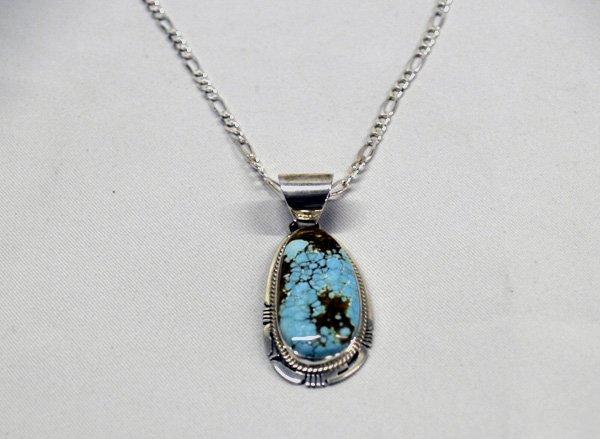 Navajo Sterling & Turquoise Pendant  by P Sanchez