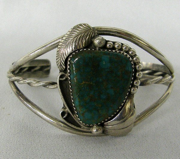 Navajo Royston Turquoise Bracelet by Cadman