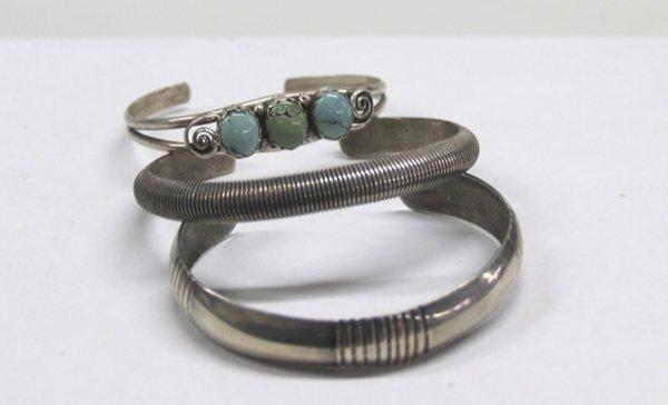 3 Navajo Silver Bracelets