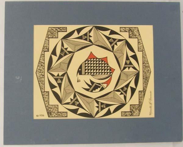 Original Hopi/Acoma 1986 Painting by M Quannie