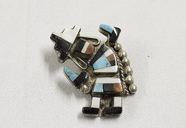 1312A: Vintage Zuni Inlay  Knifewing Kachina Pin