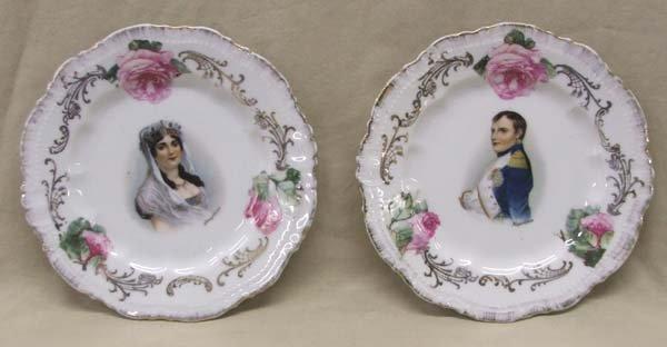 2 Bavarian Porcelain Plates