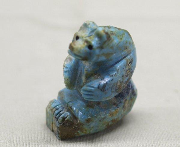 Zuni Carved Turquoise Bear Fetish