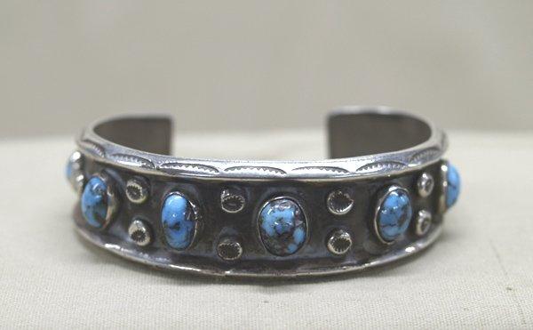 1970 Navajo Silver Turquoise Bracelet
