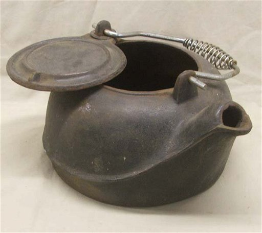 Vintage Cast Iron Tea Kettle Jan 24
