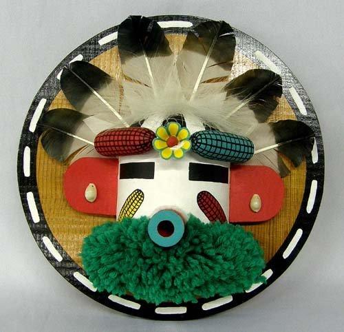 1309: 1987 Hopi Flat Corn Boy Kachina By Tsongomoki