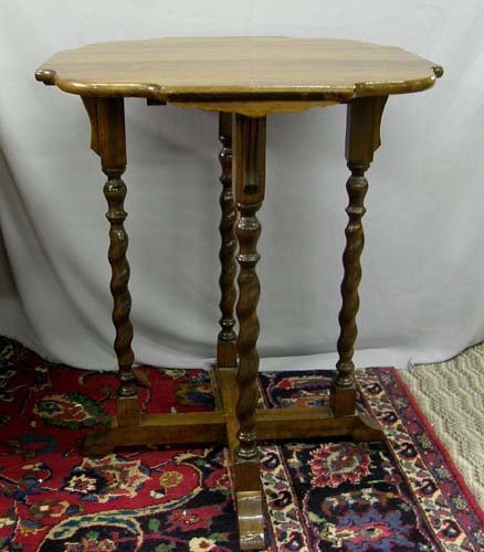 1308: Walnut Side Table MUST BE PICKED UP!