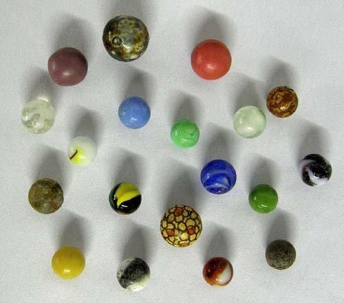 1310: 19 Vintage Marbles Some Benningtons