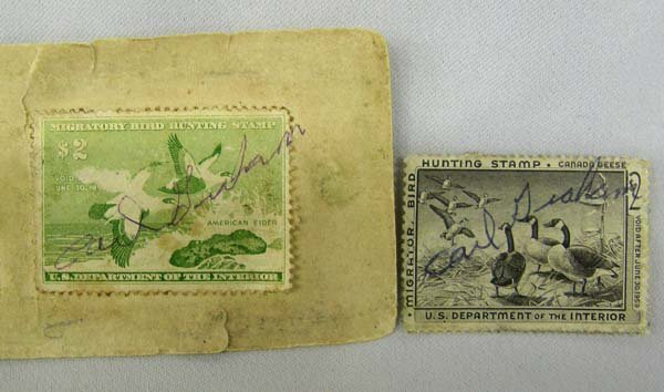 2 Vintage (1950s) Duck Hunting Stamps