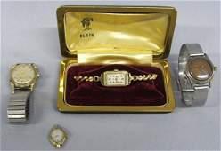 4 Vintage Estate Watches