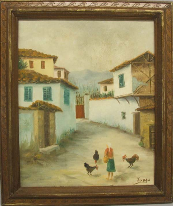 Original South American Oil On Canvas signed by artist