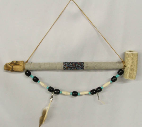 Sioux Beaded Antler Bowl Pipe