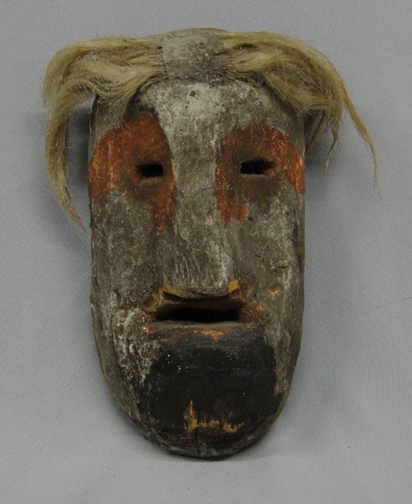 Vintage Mexican Wooden Mask