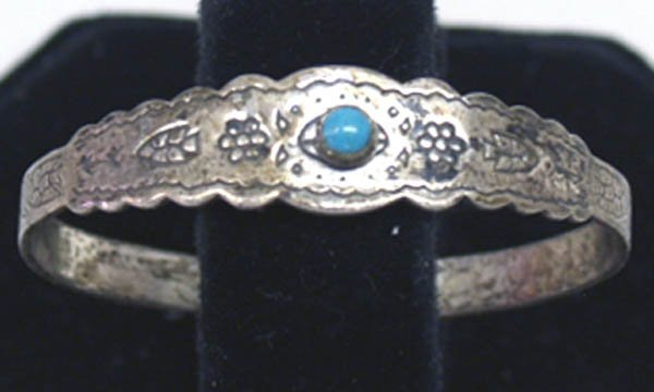 Route 66 Fred Harvey Child's Silver Bracelet