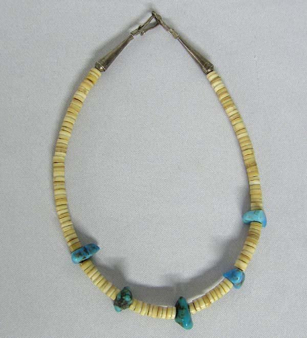 Vintage Navajo Childs Turquoise & Shell Choker