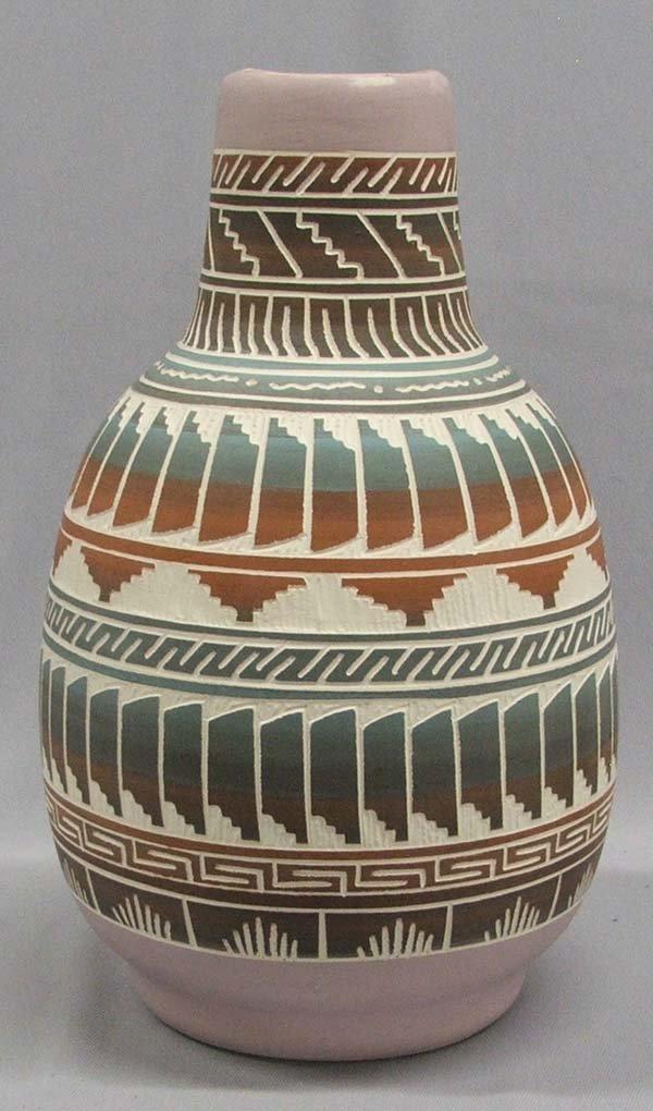 Navajo Carved Jar Signed