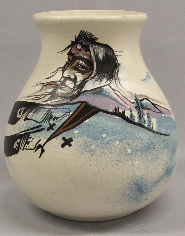 1992 Cree Sundancer Painted Jar By D Talk