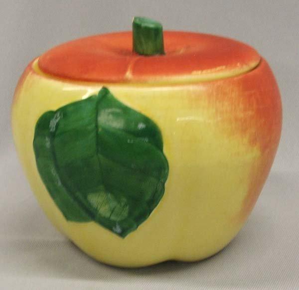 Vintage McCoy Apple Covered Jar