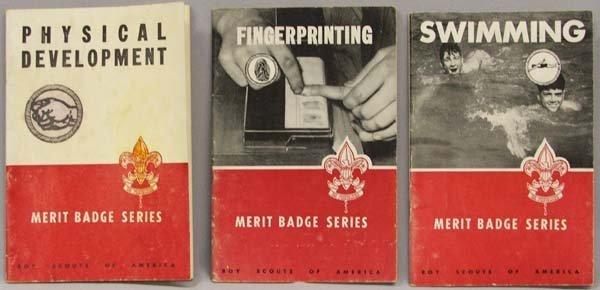 3 1940s Boy Scout Merit Badge Booklets