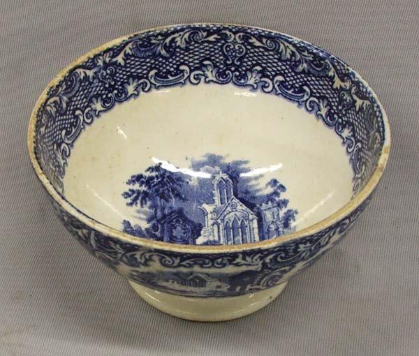 Antique Flow Blue Holland Waste Bowl