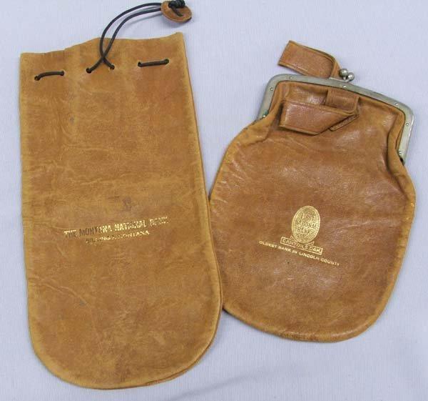 2 Vintage Leather Montana and S Dakota Bank Bags