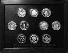 10 Silver Official Coin-Medals Of Indian Tribal Nations
