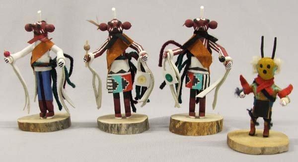 4 Navajo Small Kachinas