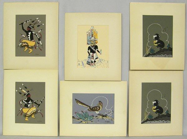 6 Navajo Prints by artist Robert Chee