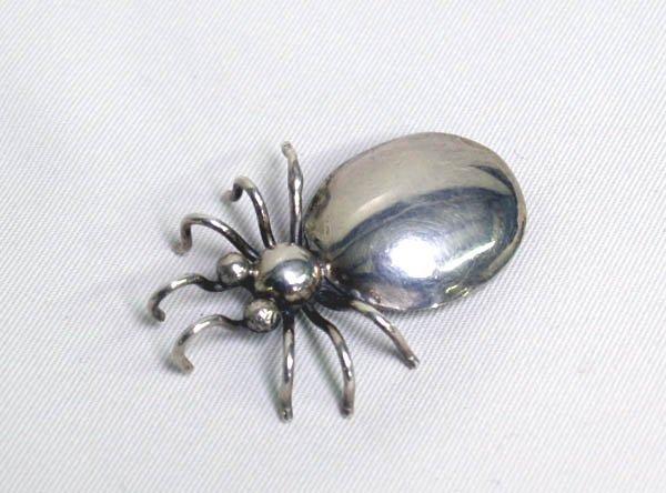 Navajo Silver Beetle Pin Hallmarked  EEX