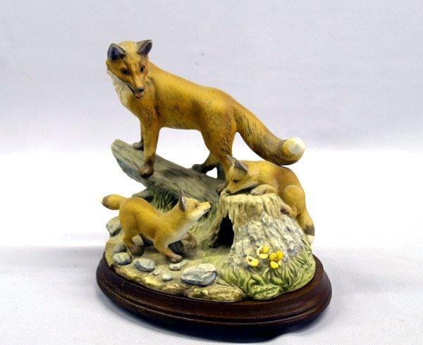 1302: Andrea by Sadek Porcelain Red Fox Family