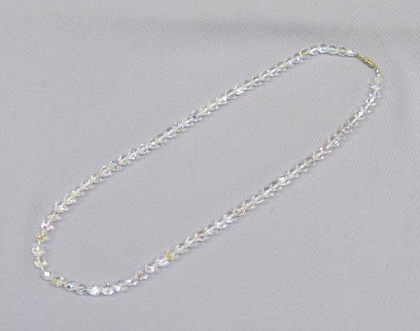 1306: Vintage Crystal Bead Necklace