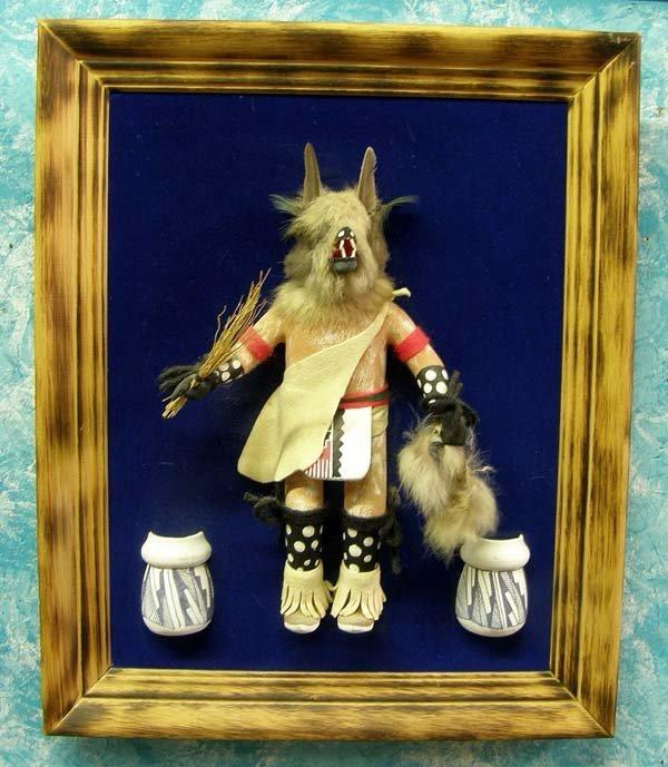 Framed Wolfman Kachina