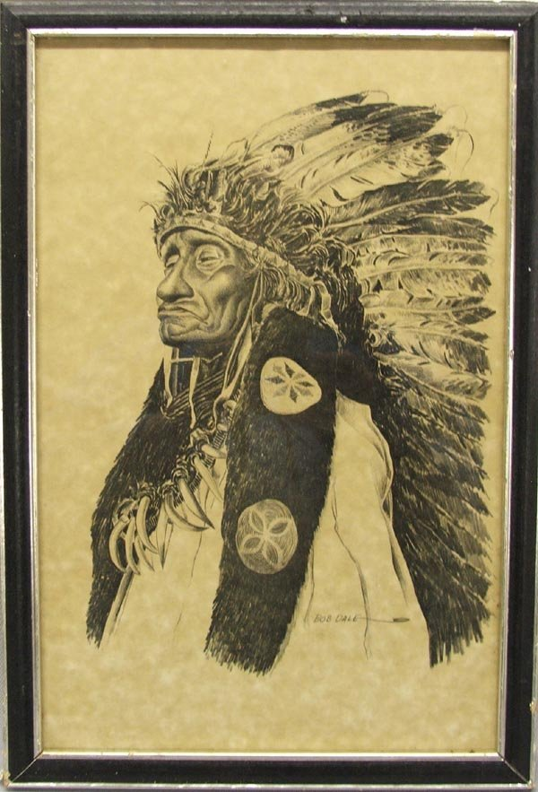 Framed Indian Print by Bob Dale