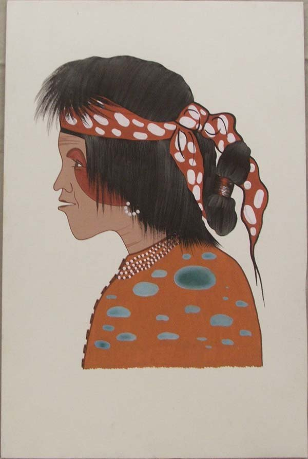 Cherokee Original Painting By Woody Big Bow
