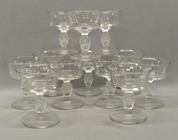 12 Heisey Plantation Glasses Sherbets