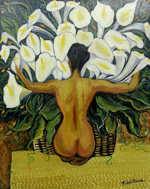 Original 2010 Acrylic Painting by Kills Thunder