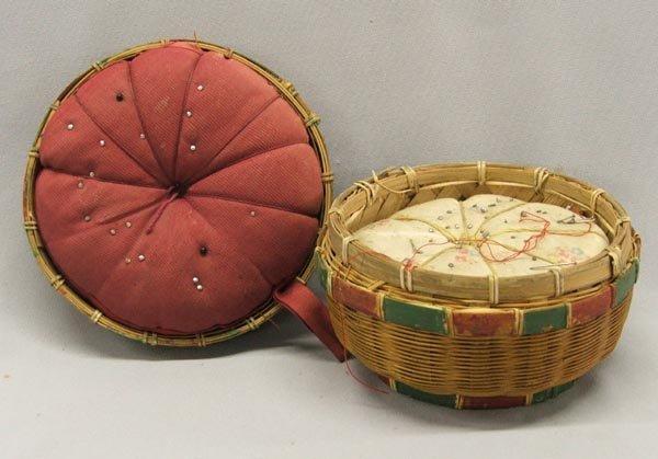 Antique Pin Cushion Basket