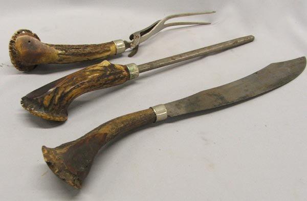 Antique Bone Handled Carving Set