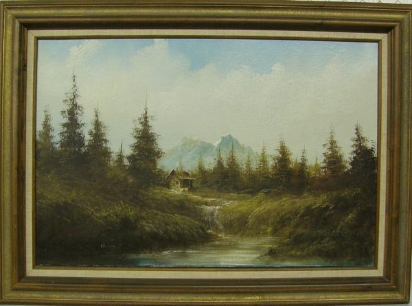 1233A: Original Oil Painting By Lester Hughes