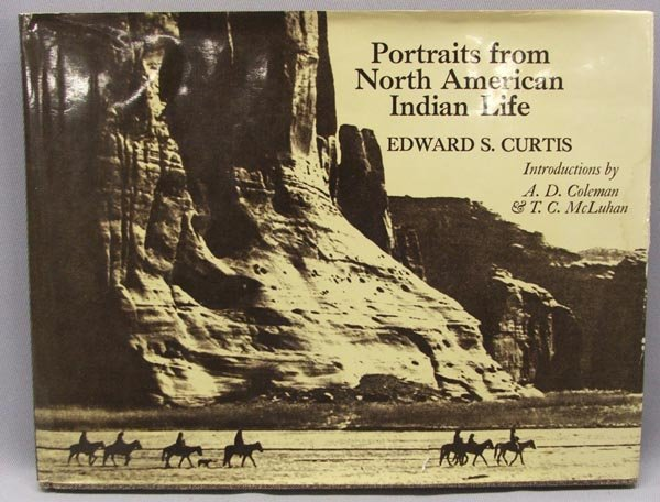 1300: 1972 Book Portraits NA Indian Life By E.S. Curtis